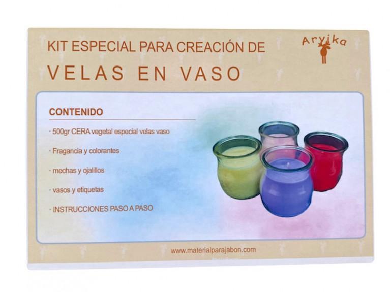 Kit para hacer velas en vaso